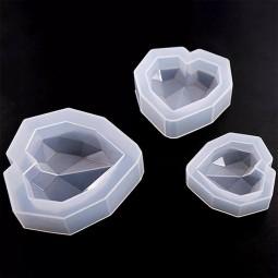 molde de silicona corazón diamante